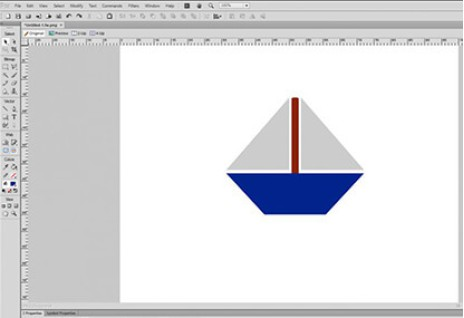 Designing a Boat Icon in Adobe Fireworks